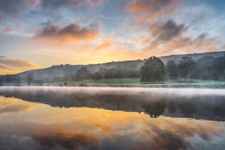 A Misty Sunrise in Chatsworth Park by Jude Gadd
