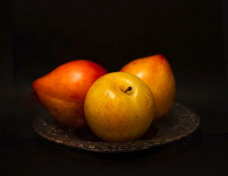 Three Plums by Christine Blanchin dos Santos