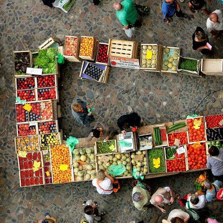 Market at Villefranche by Azalea Dalton