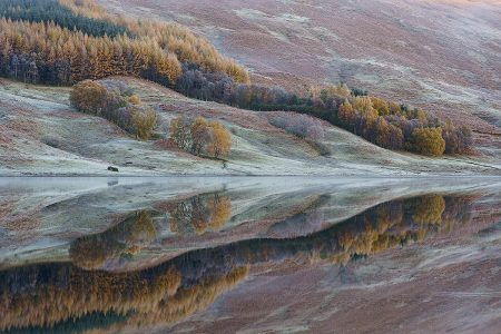 Loch Lubhair Reflection by Sandy Furniss