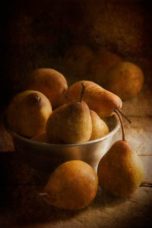 Painterly Pears by Flavio Catalano
