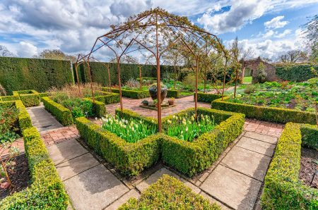 Rose Arbour in the White Garden by Andrew Fletcher