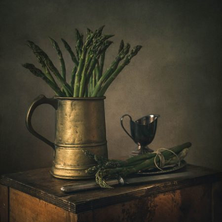 Still Life with Asparagus by Iwona Czubek