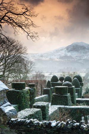 Plas Brondanw in Snow by Richard Bloom