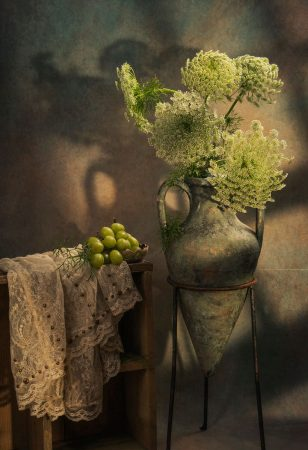 Queen Anne's Lace and Grapes by Angi Wallace