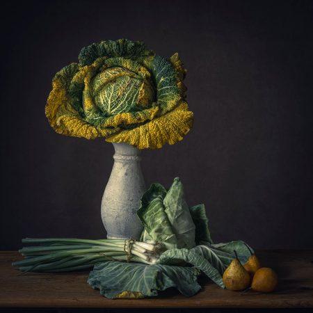 Still Life, Yellowed Vegetables by Monique van Velzen
